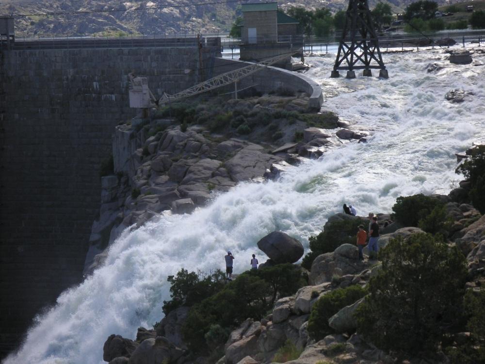 Pathfinder Dam Spillway Wyoming