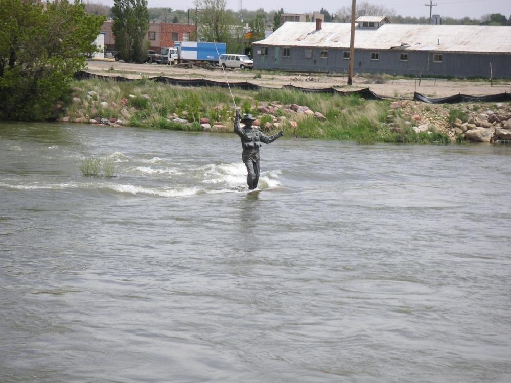 Fly Fisherman Statue Downtown Casper