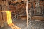 Log barn horse stall