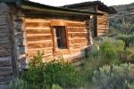 Log ranch buildings in Wyoming