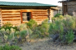 Old log house in Wyoming