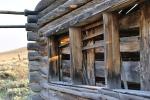 Historic log buildings. Window Casing