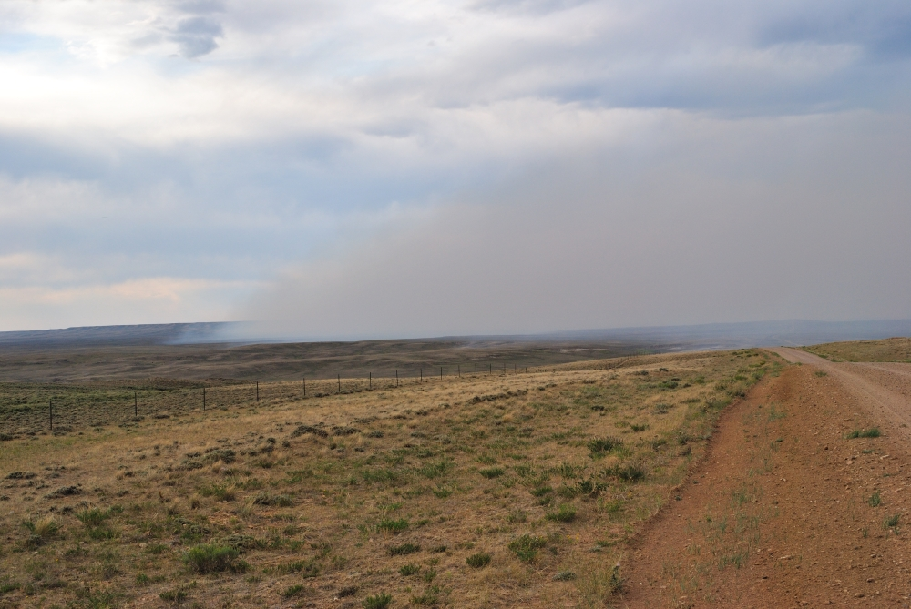 Wyoming Wildfire Forest Fire Smoke