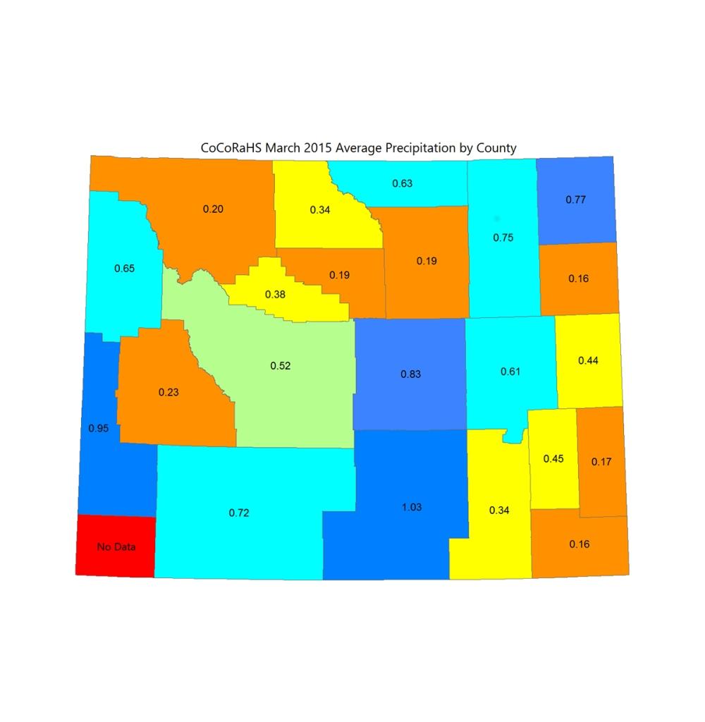 Prepitation March 20154 Wyoming